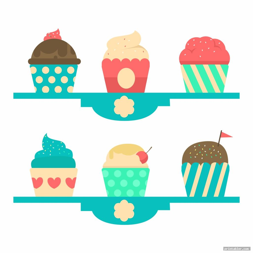 monthly birthday cupcake printables image free