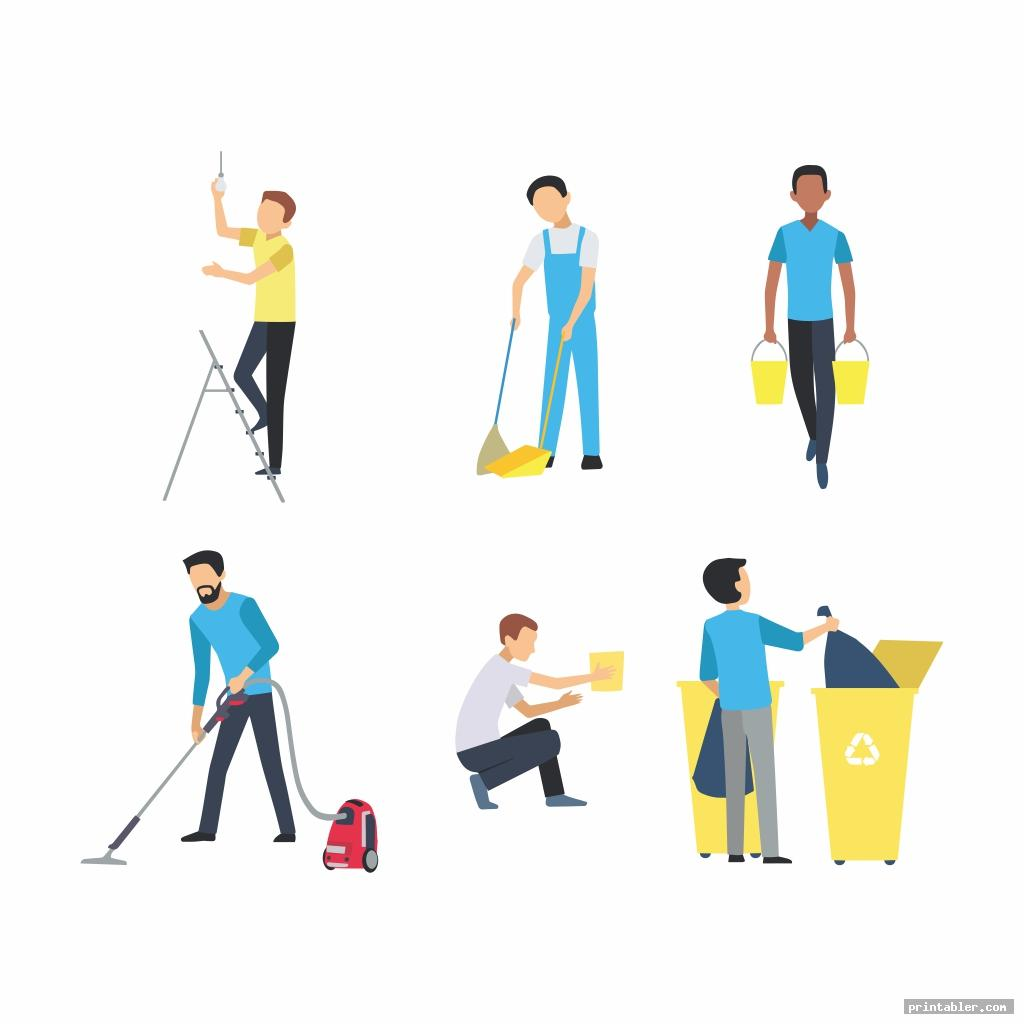 printable chore clip art for use