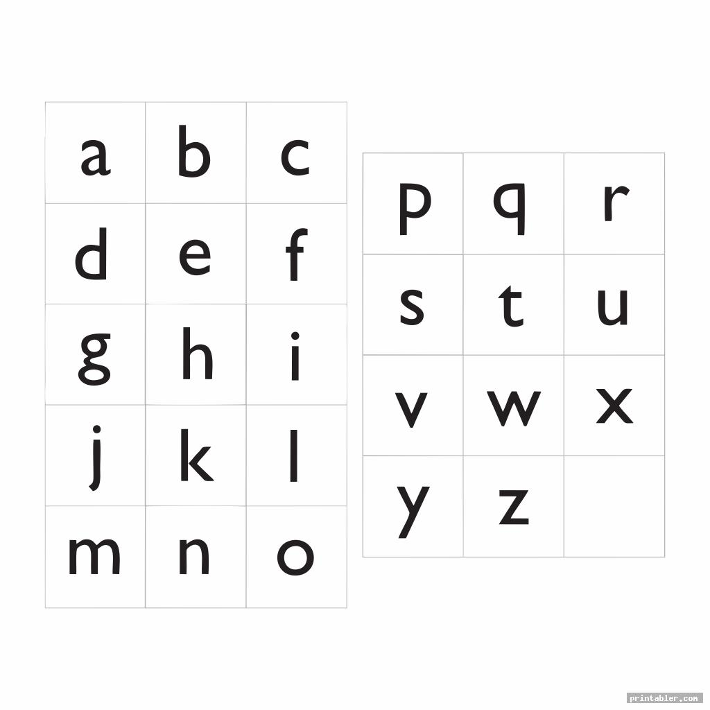 printable lower case alphabet flash cards image free