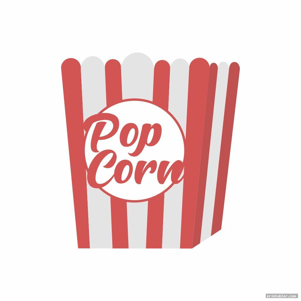 printable popcorn box image free