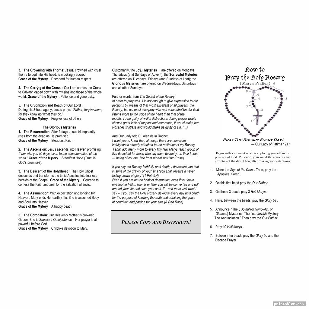 printable rosary pamphlet fold image free