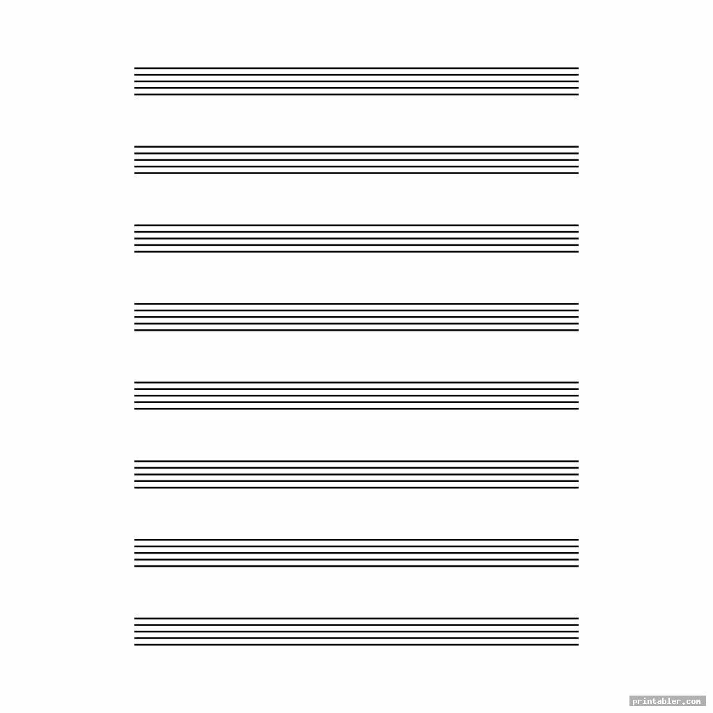Printable Staff Paper Blank Sheet Music