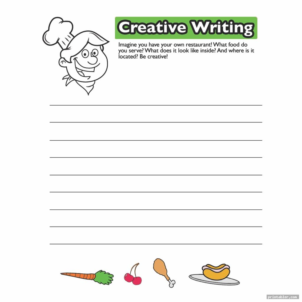 restaurant printable templates for 2nd grade opinion writing