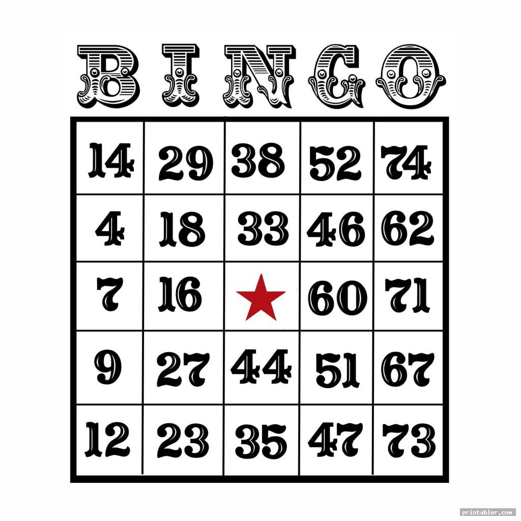 simple custom bingo card printable template