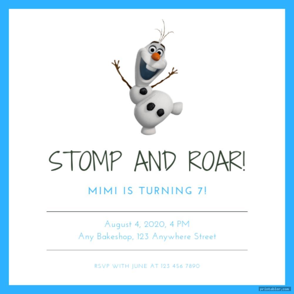 simple frozen birthday invitations printable