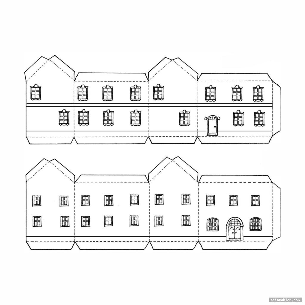 simple printable paper buildings