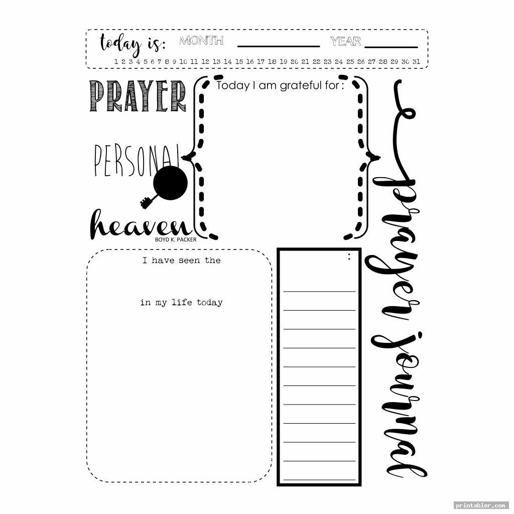 photograph relating to Prayer Printable identified as Printable Prayer Magazine Template -