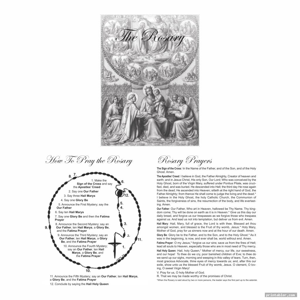 simple printable rosary pamphlet fold