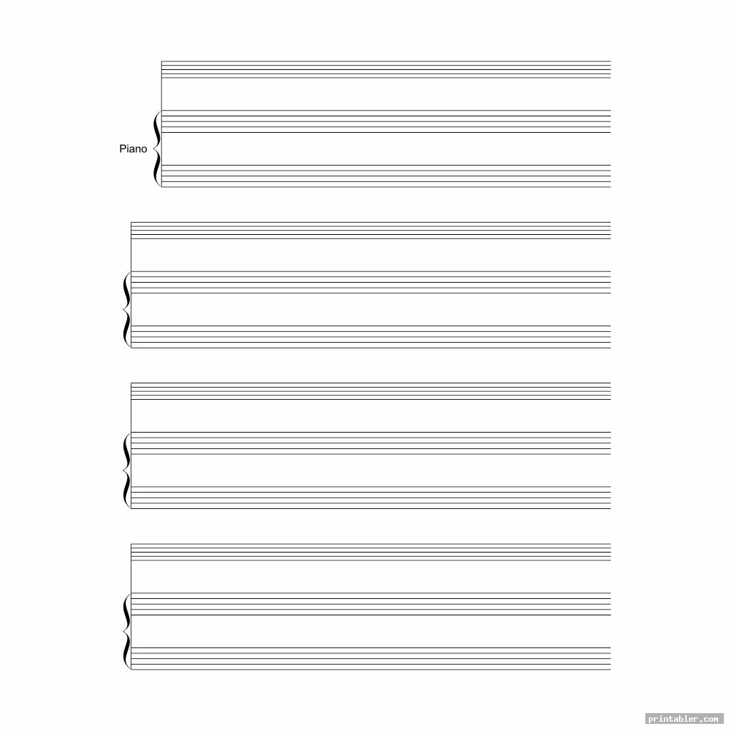 simple printable staff paper blank sheet music