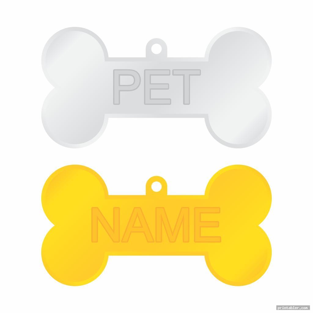 skeleton dog tag template printable