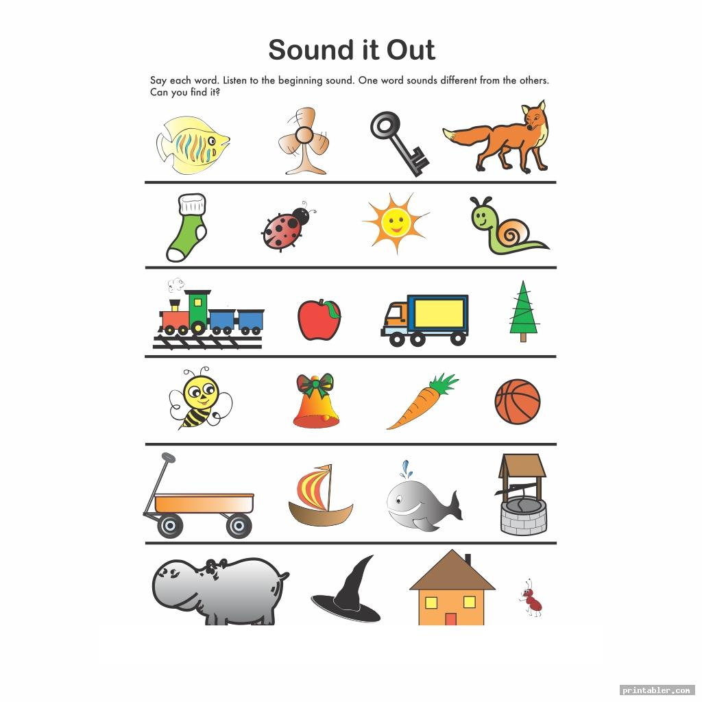sound it out 3 year old preschool printables