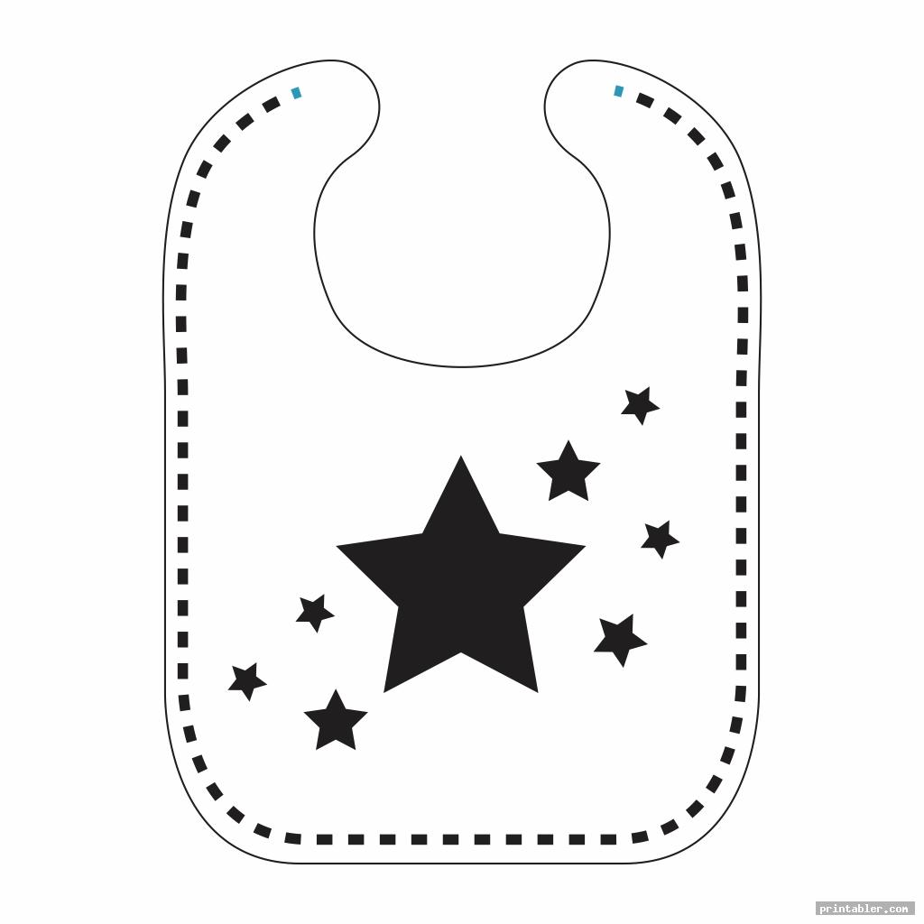 stars printable bib pattern pacifier