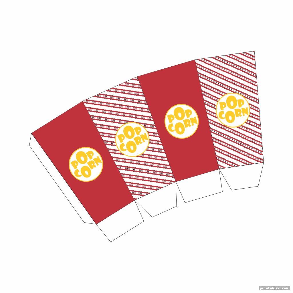 stripe printable popcorn box
