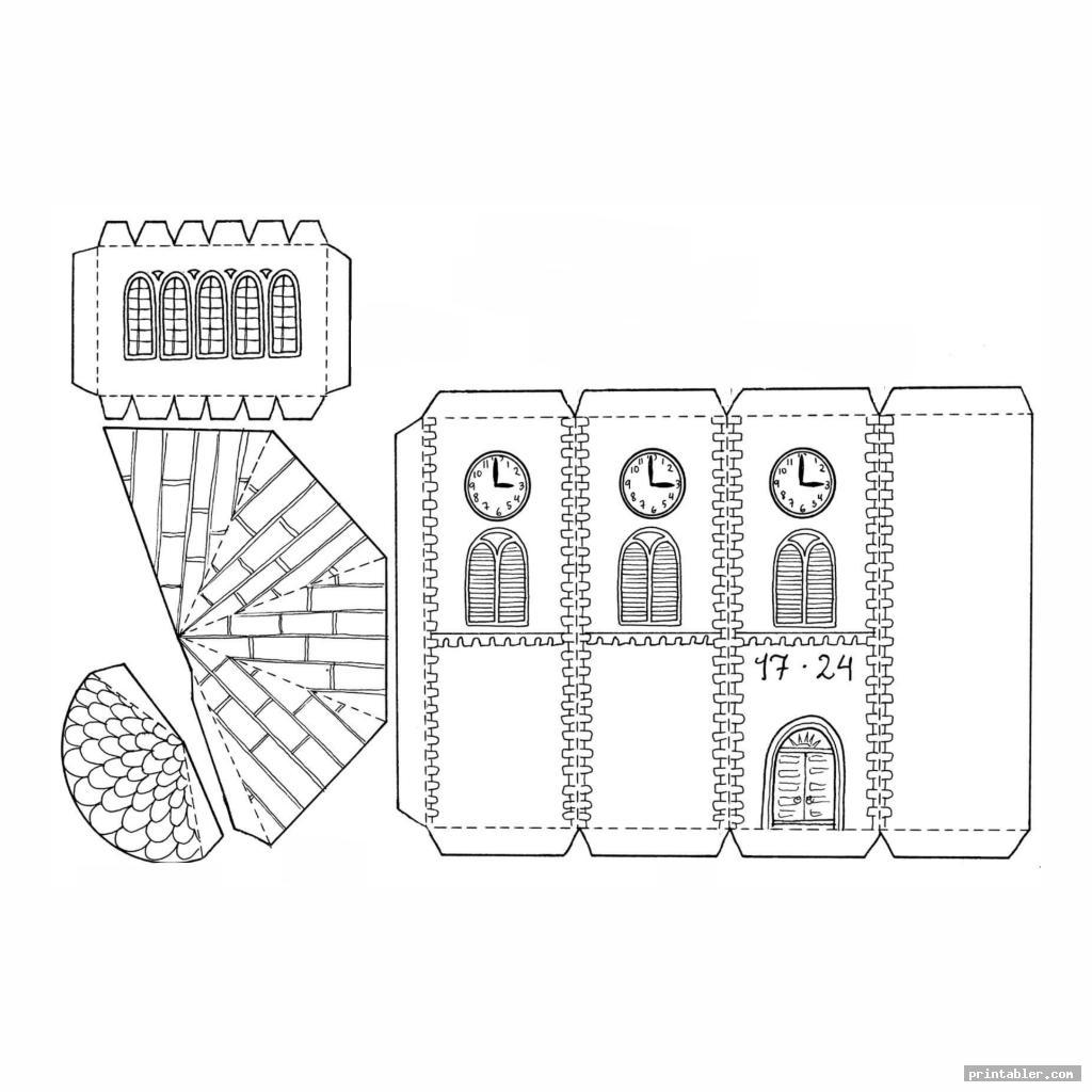 tower printable paper buildings