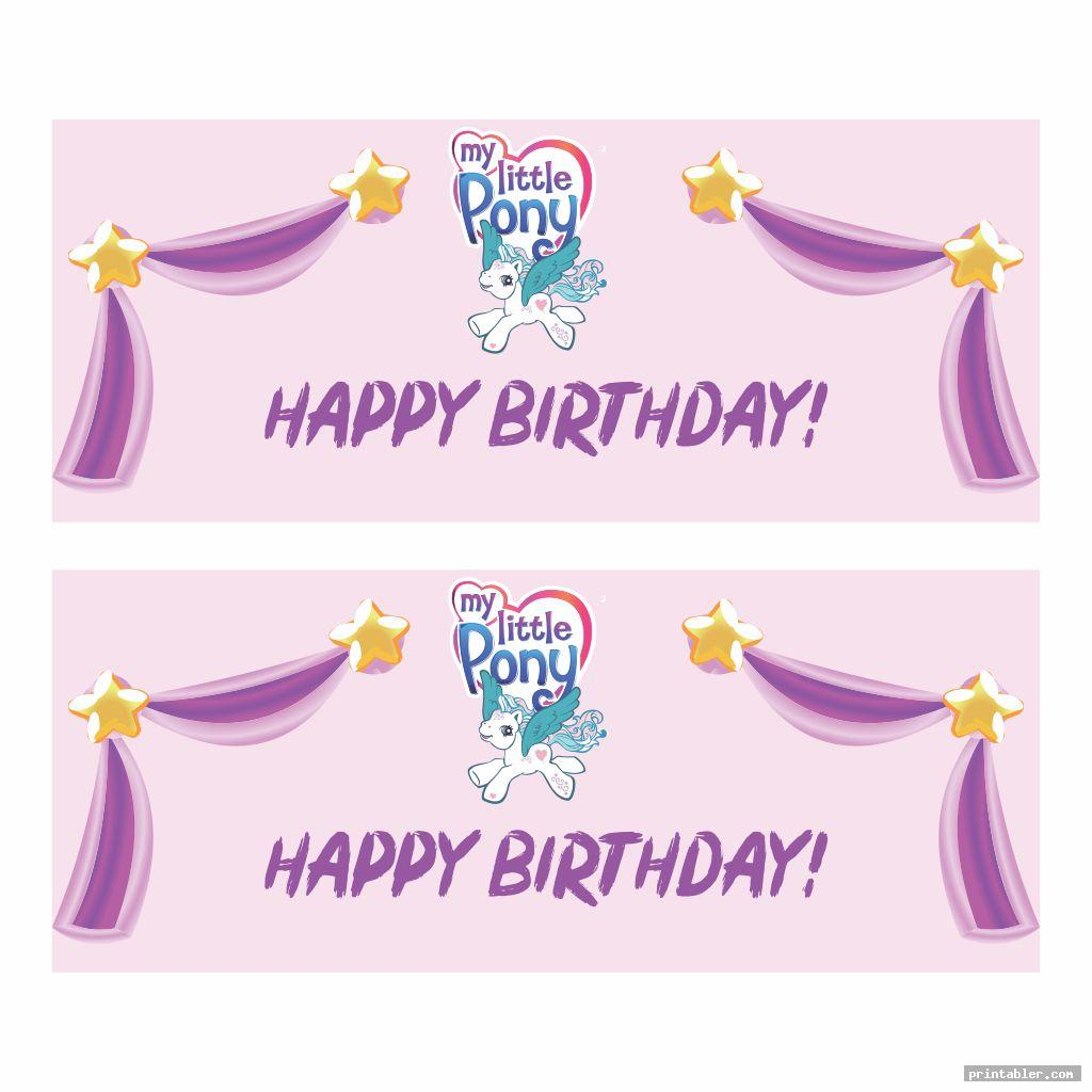 banner my little pony birthday printables