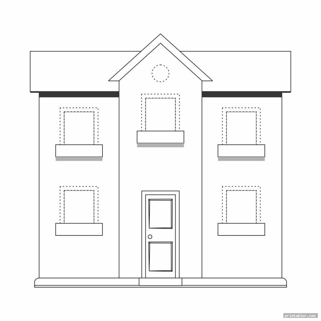 big shape worksheets printable houses