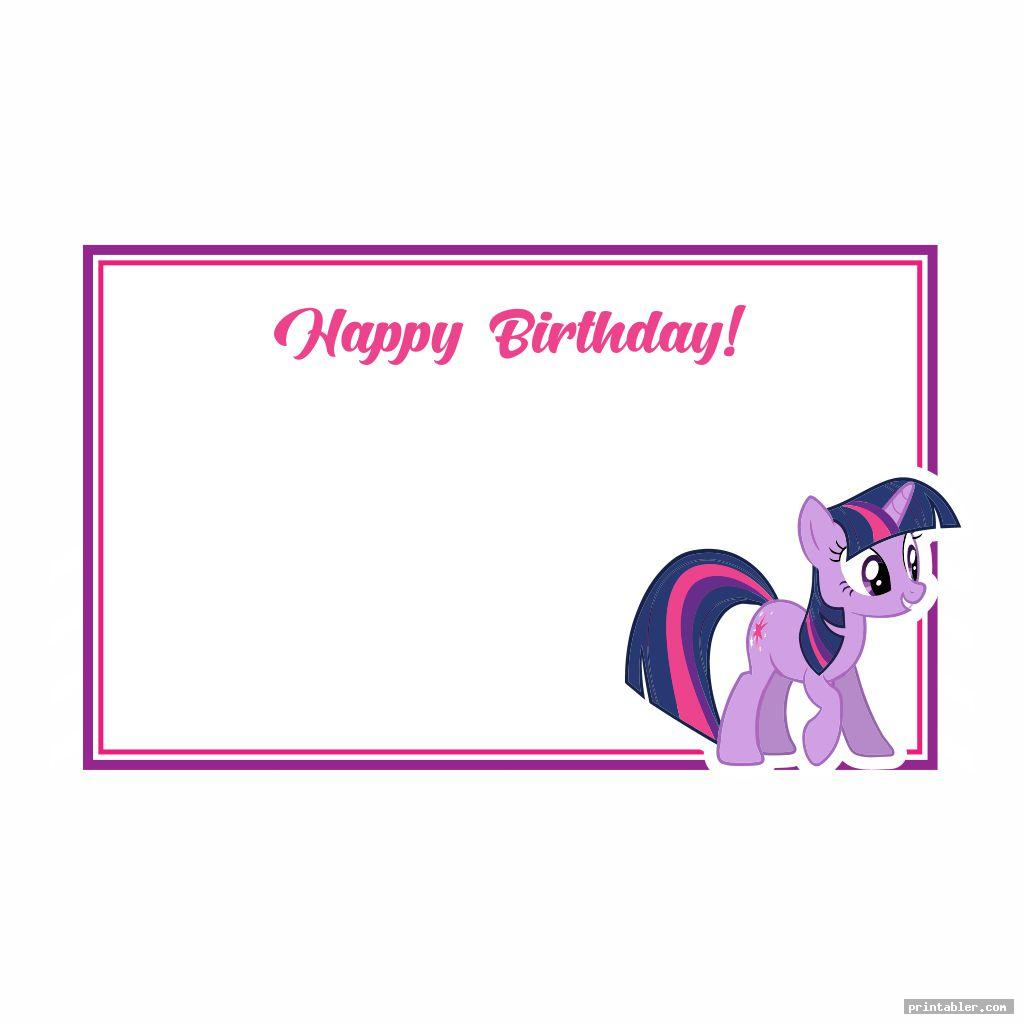 birthday card my little pony birthday printables