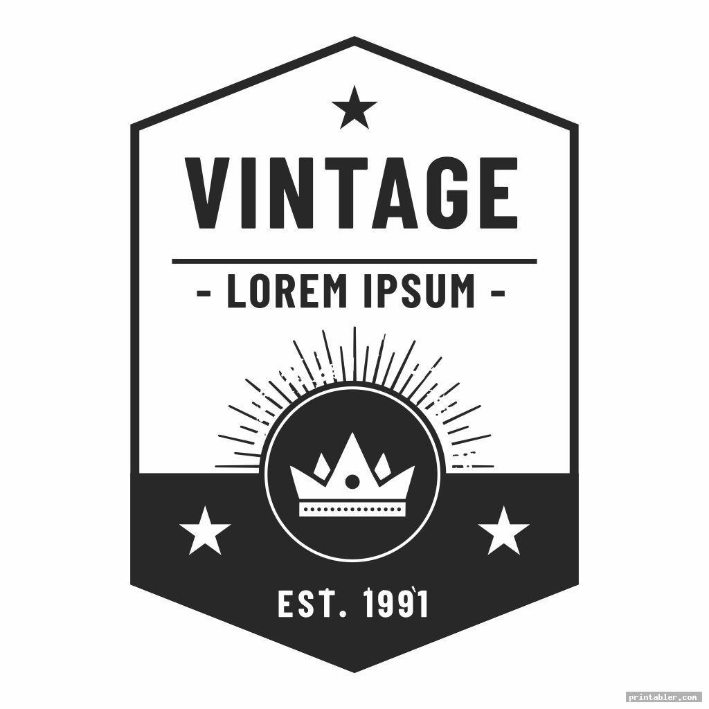black and white miniature printable vintage labels