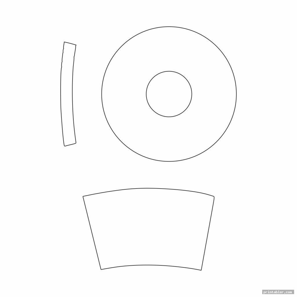 blank printable top hat pattern