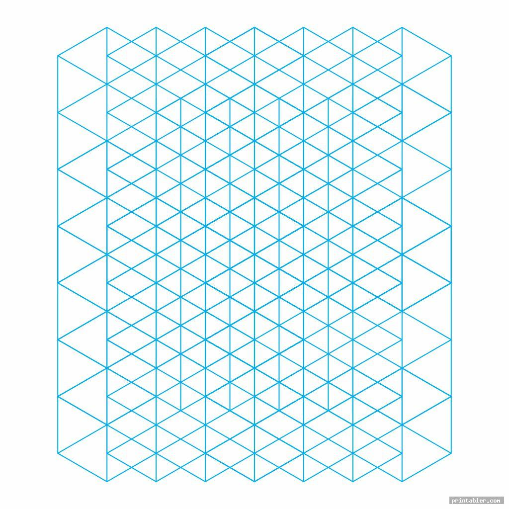 blue printable isometric grid paper