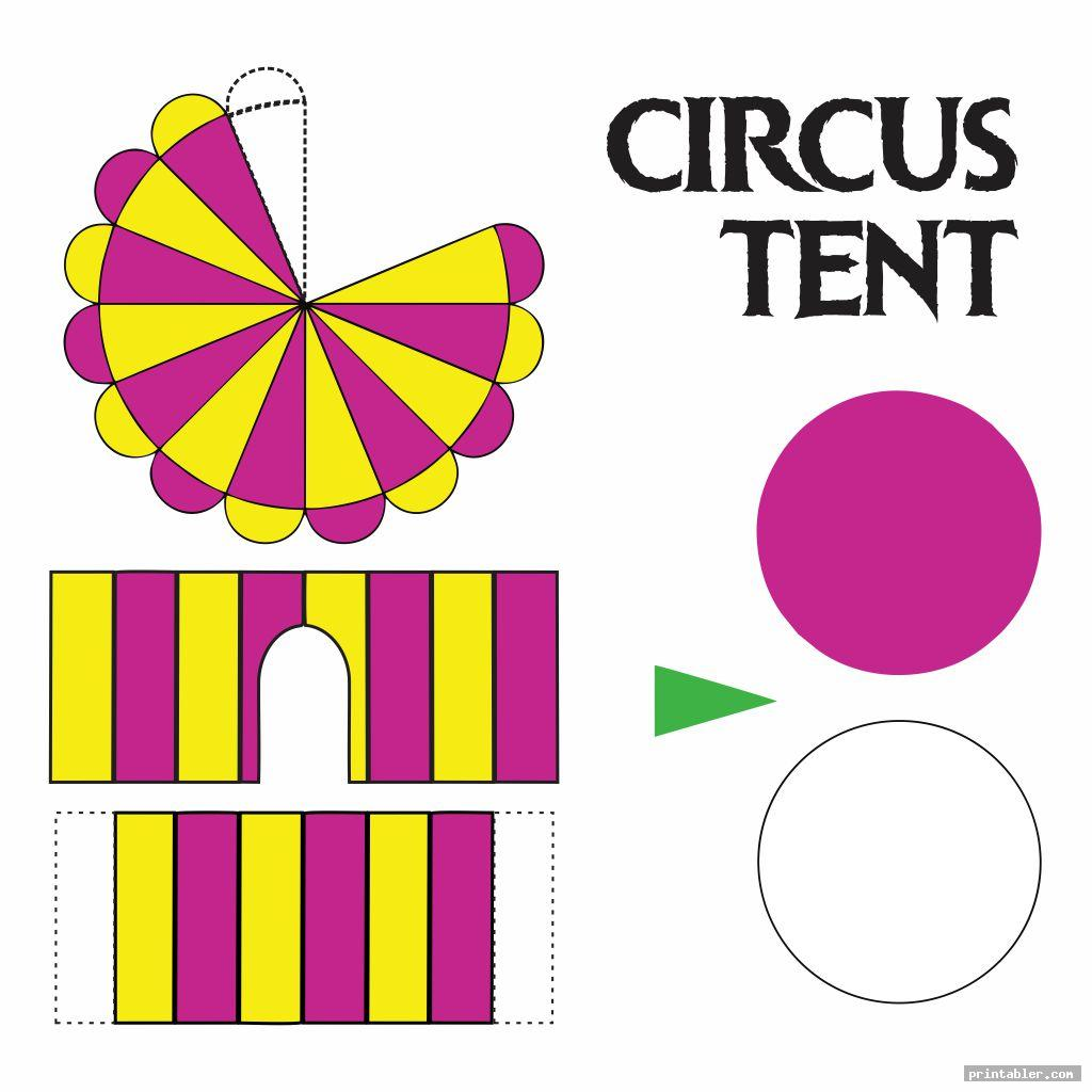 cirus tent printable circus crafts