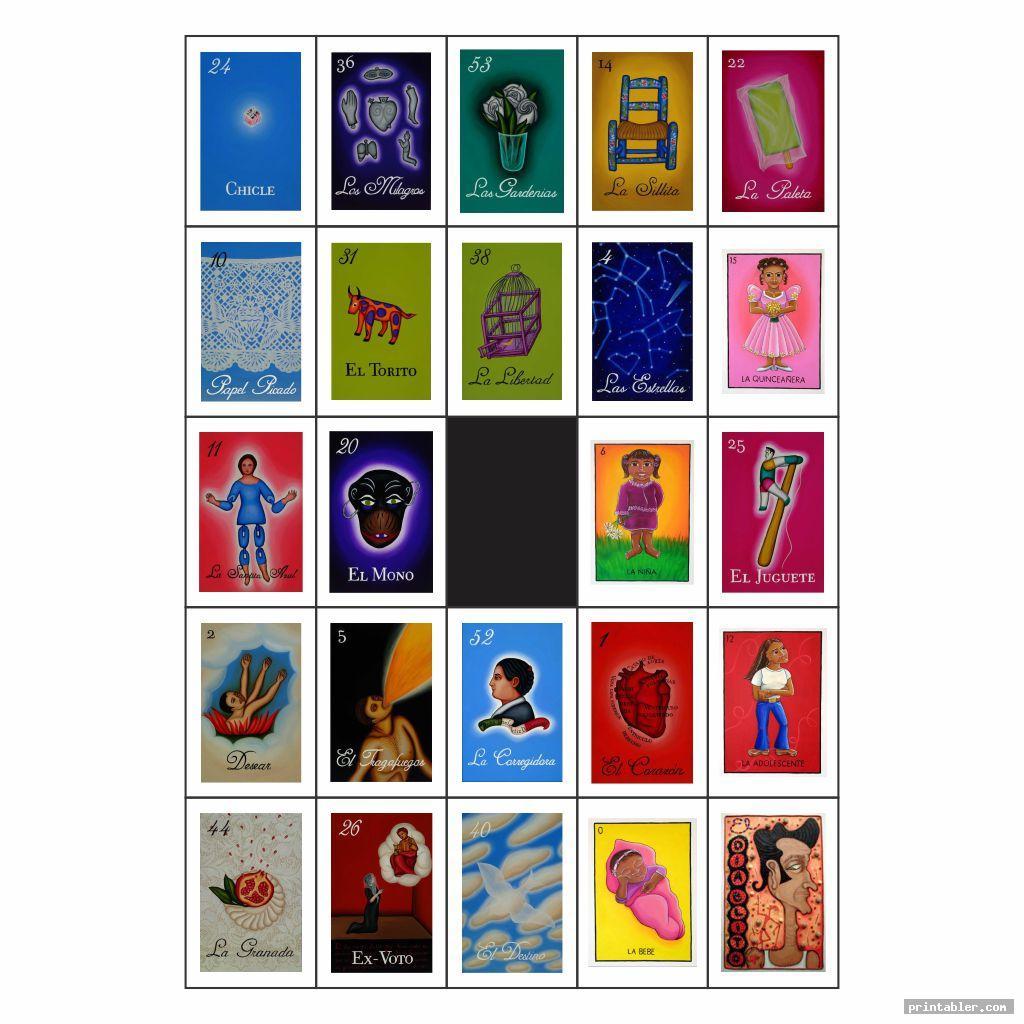colorful mexican bingo cards printable