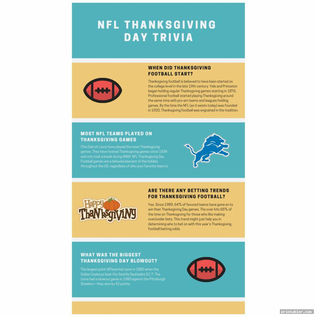 colorful nfl thanksgiving day trivia printable games free