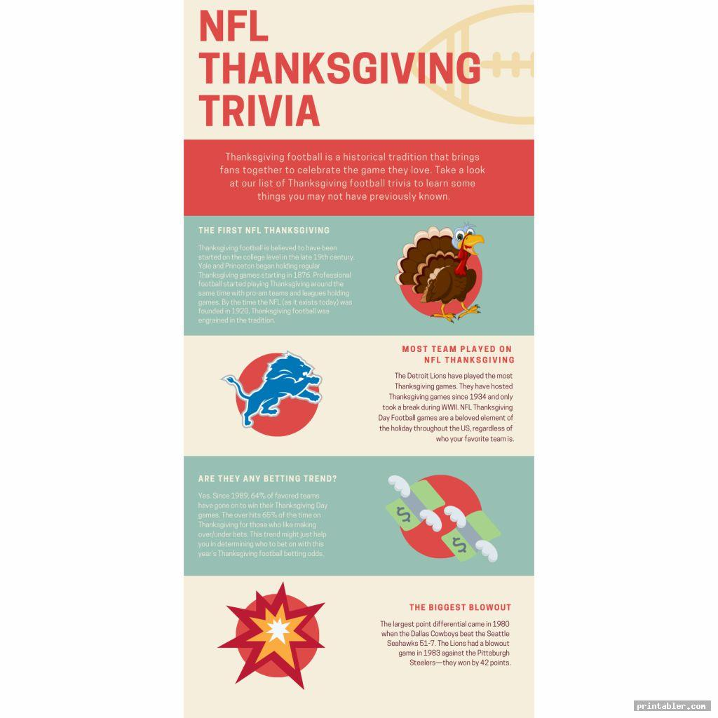 colorful nfl thanksgiving day trivia printable games