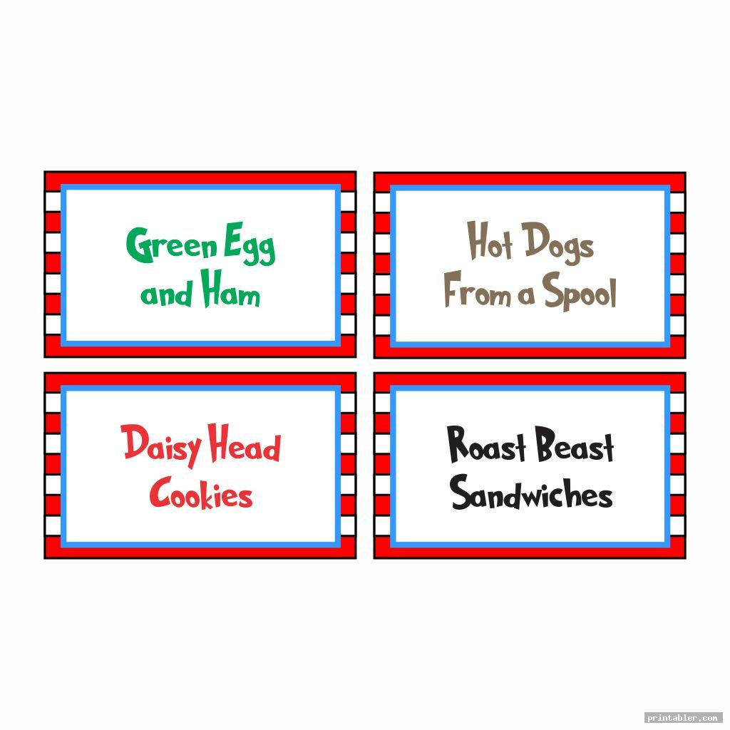 colorful printable food cards dr seuss