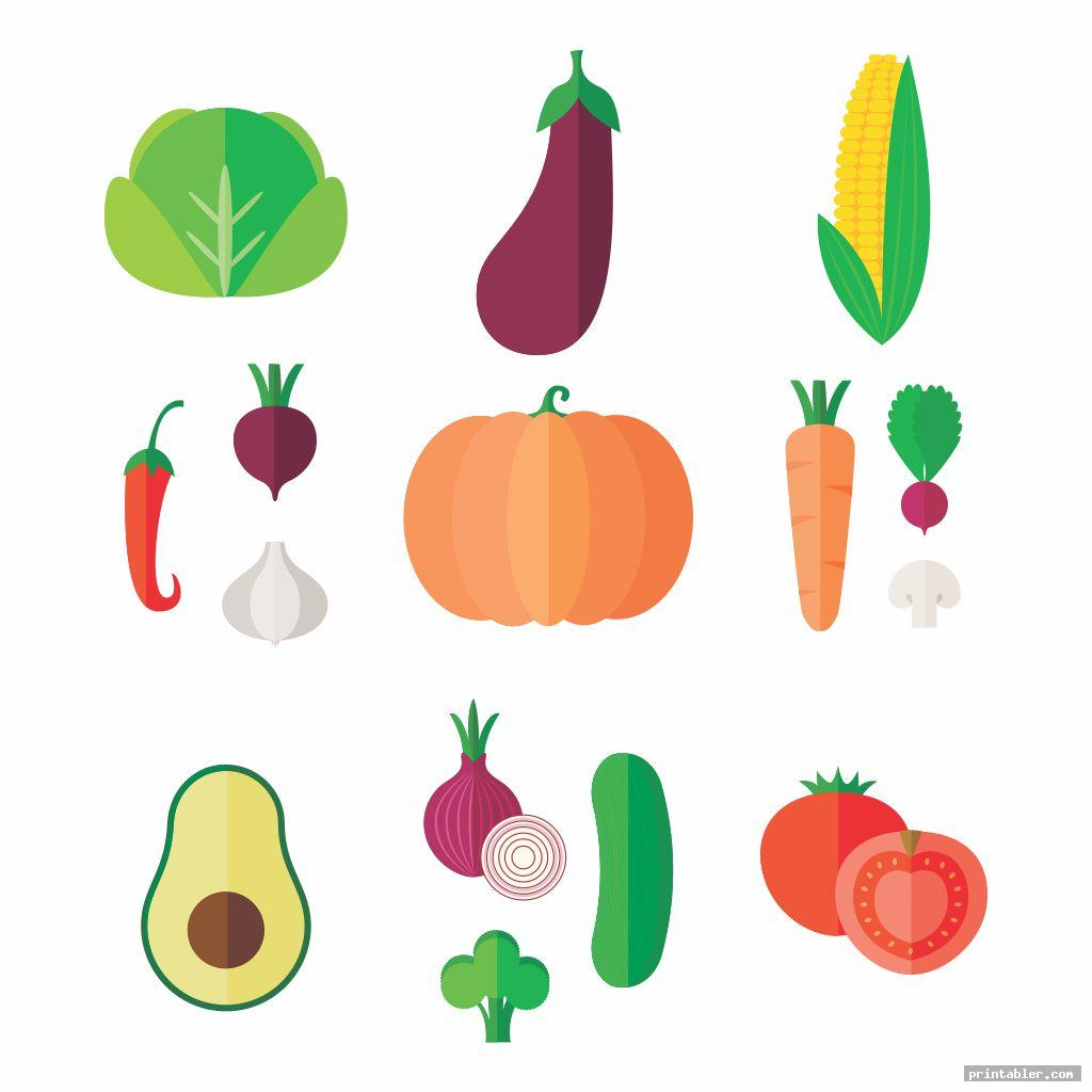complete printable fruit and vegetable templates
