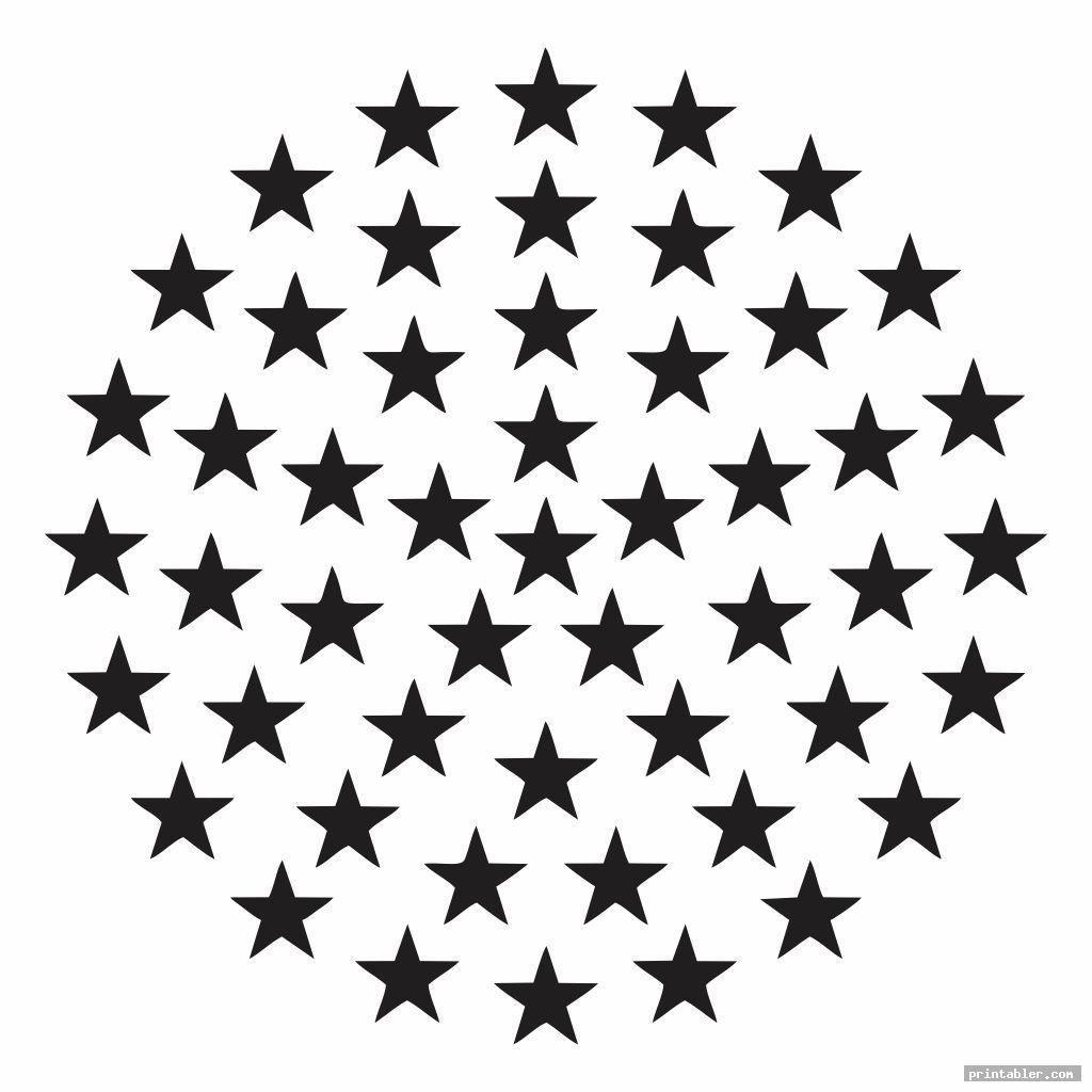 cool american flag stars stencil printable