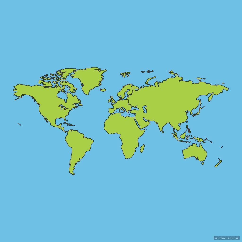 cool blank world maps printable