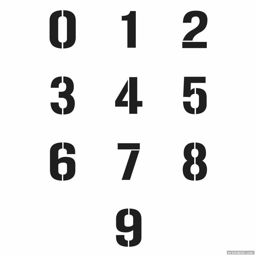 cool large printable numbers 0 9