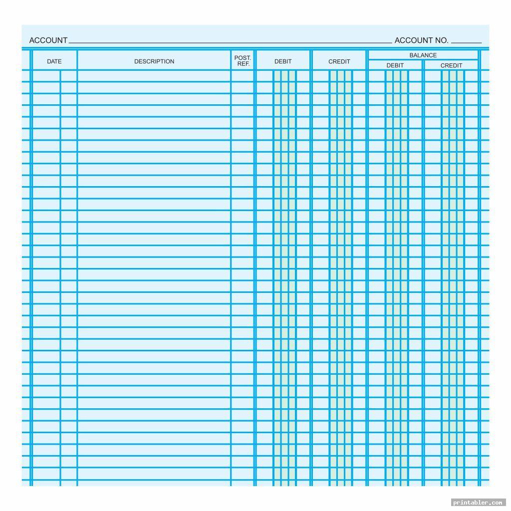cool printable ledger balance sheet