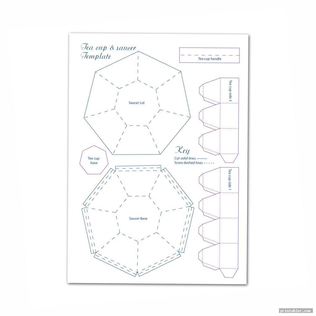 cool tea cups printable box templates