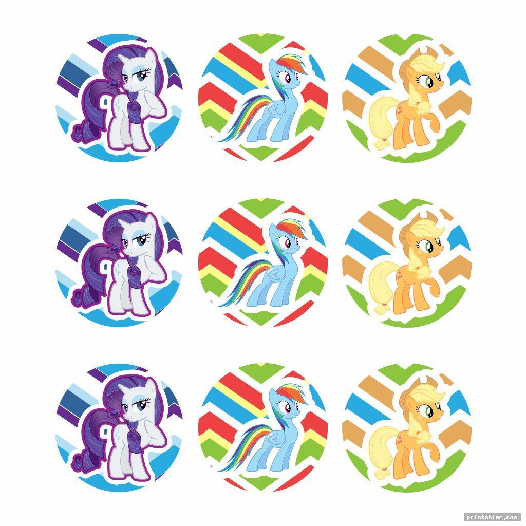 cupcake topper my little pony birthday printables