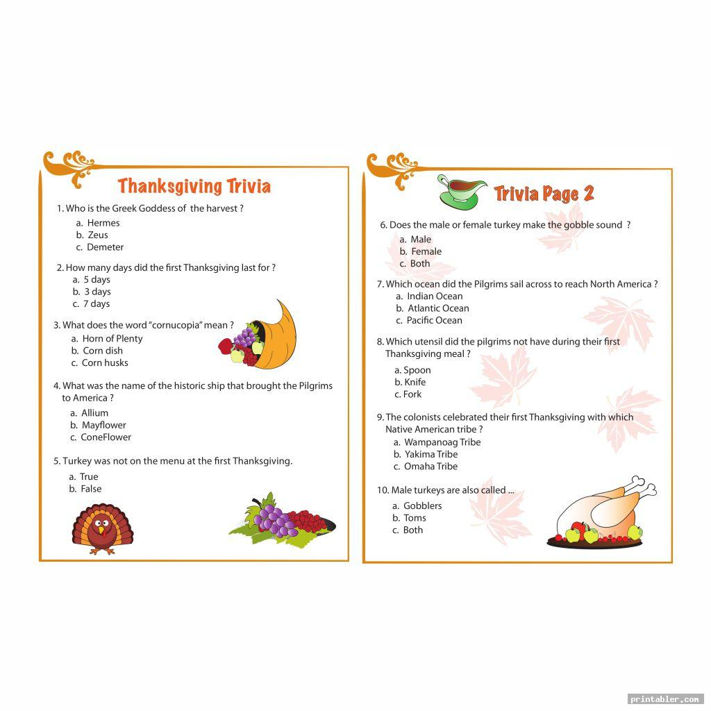cute nfl thanksgiving day trivia printable games