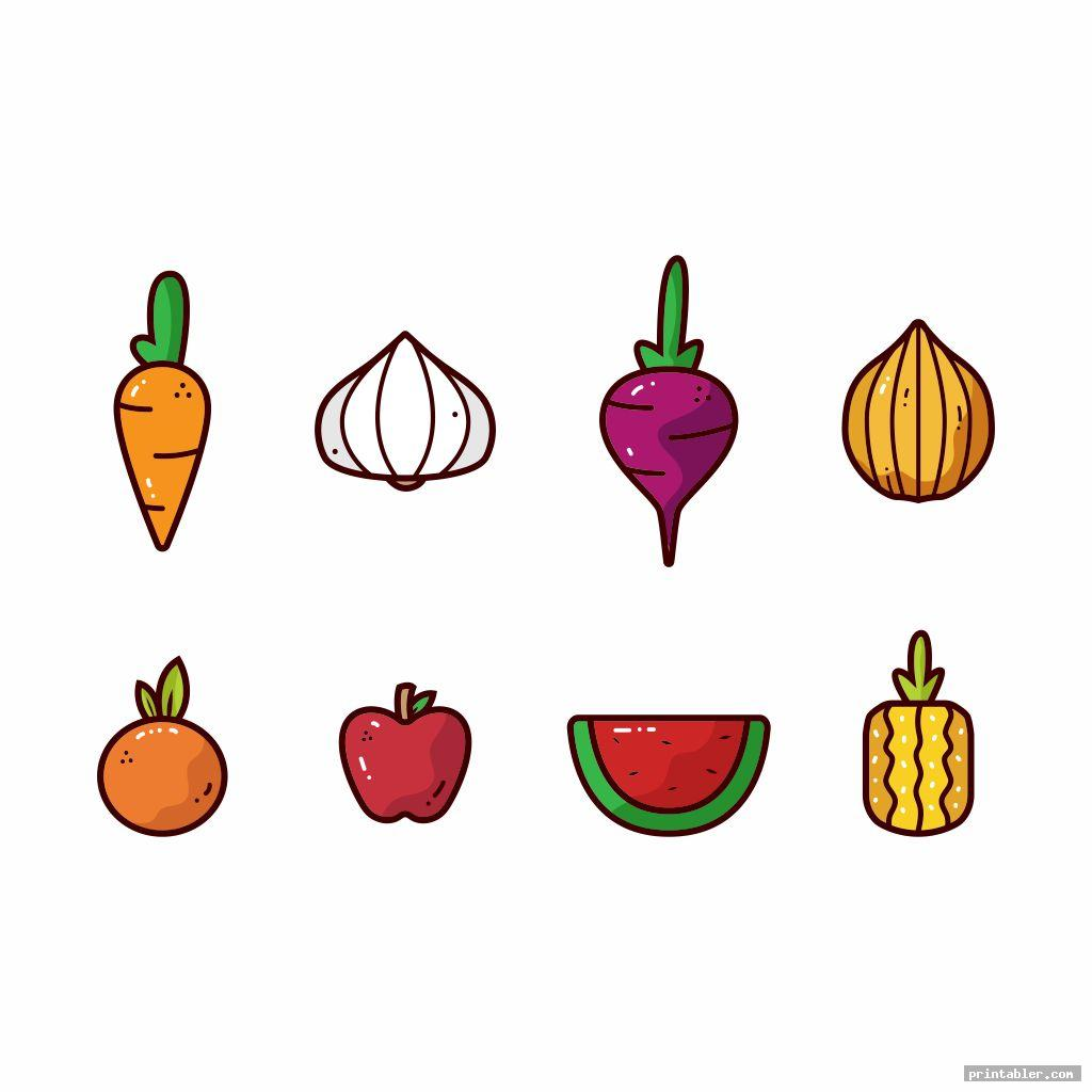 cute printable fruit and vegetable templates