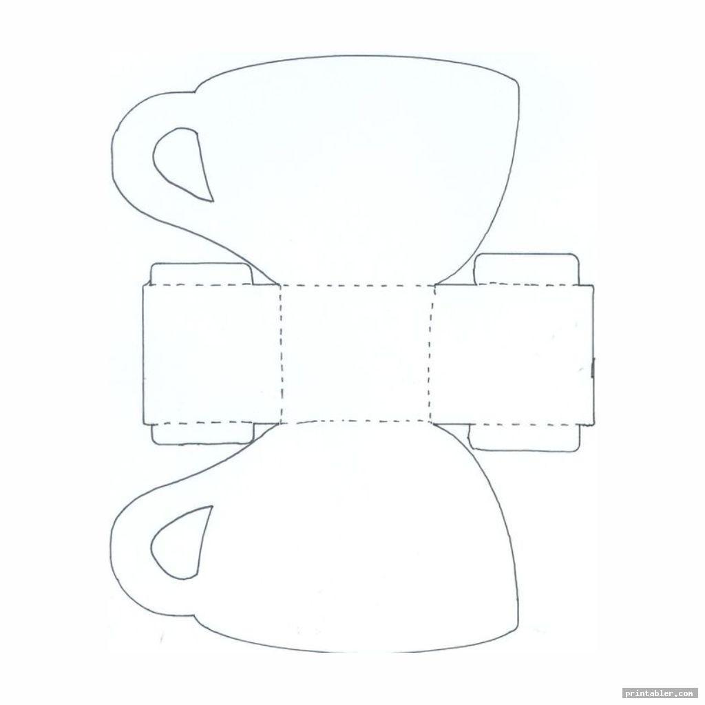 cutout simple tea cups printable box templates