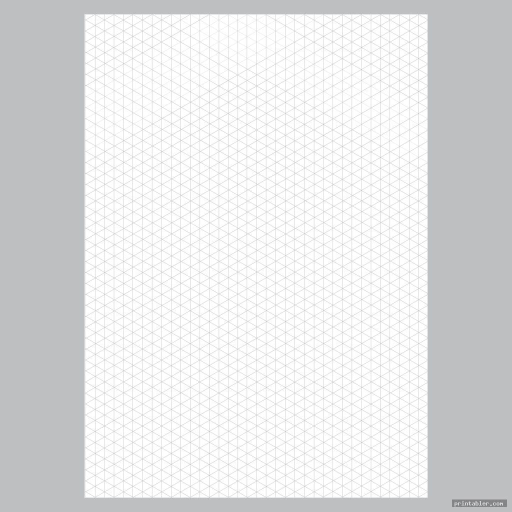 detail printable isometric grid paper