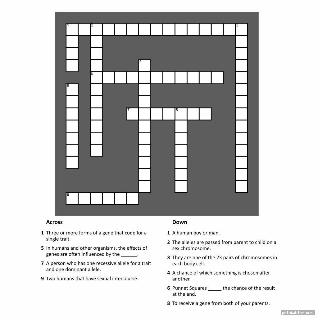 easy printable people crossword puzzles