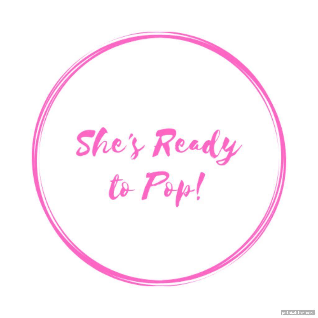 elegant pink ready to pop printable