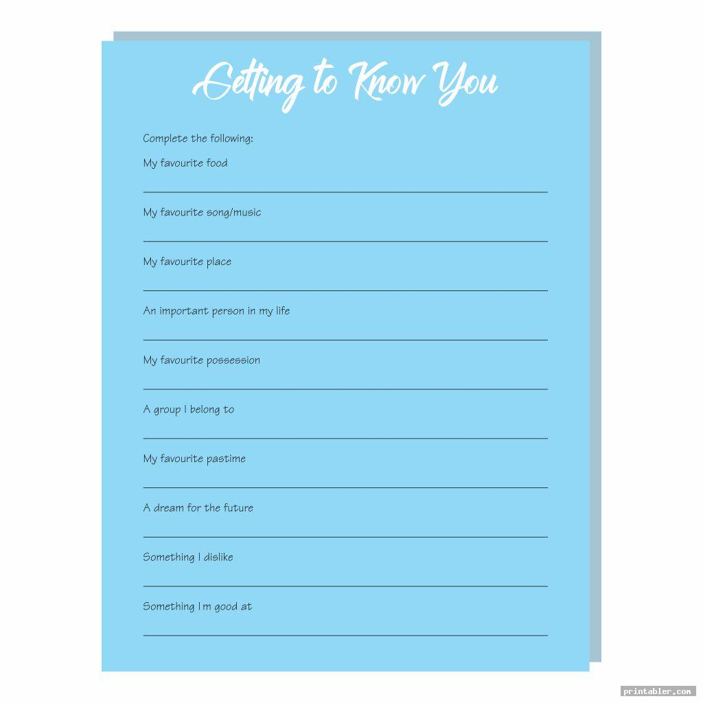 getting to know you printables for adults template for use
