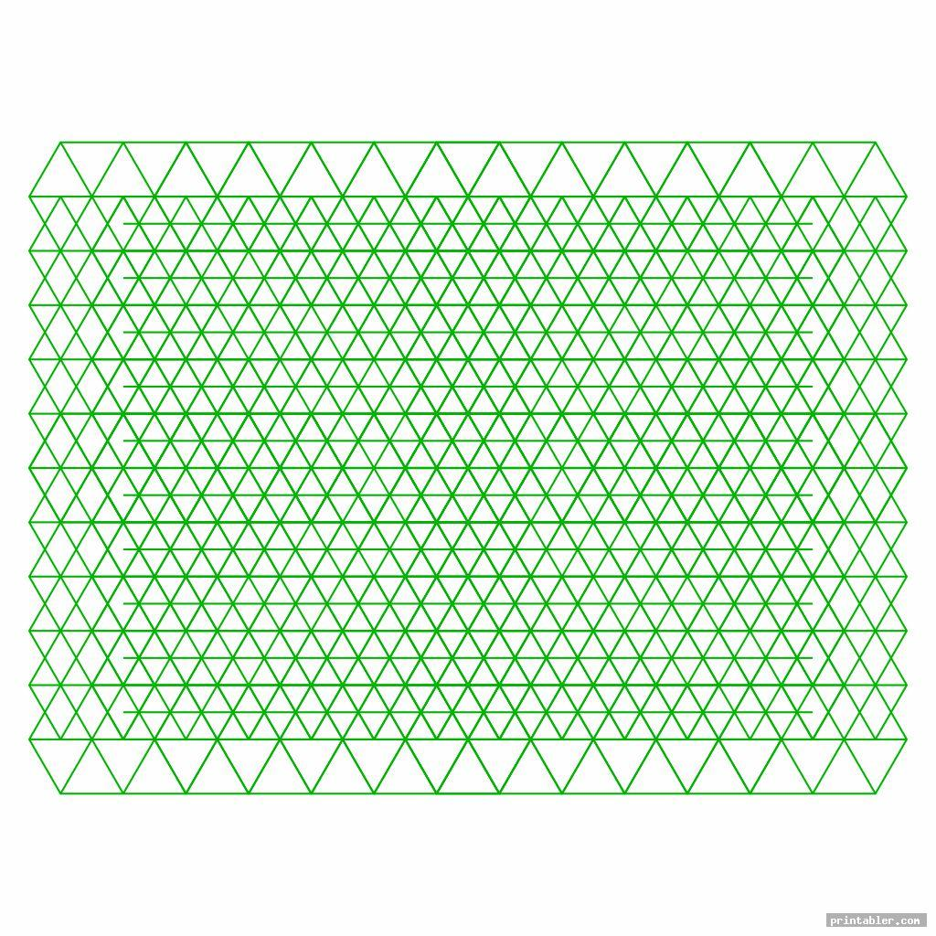 green landscape printable isometric grid paper