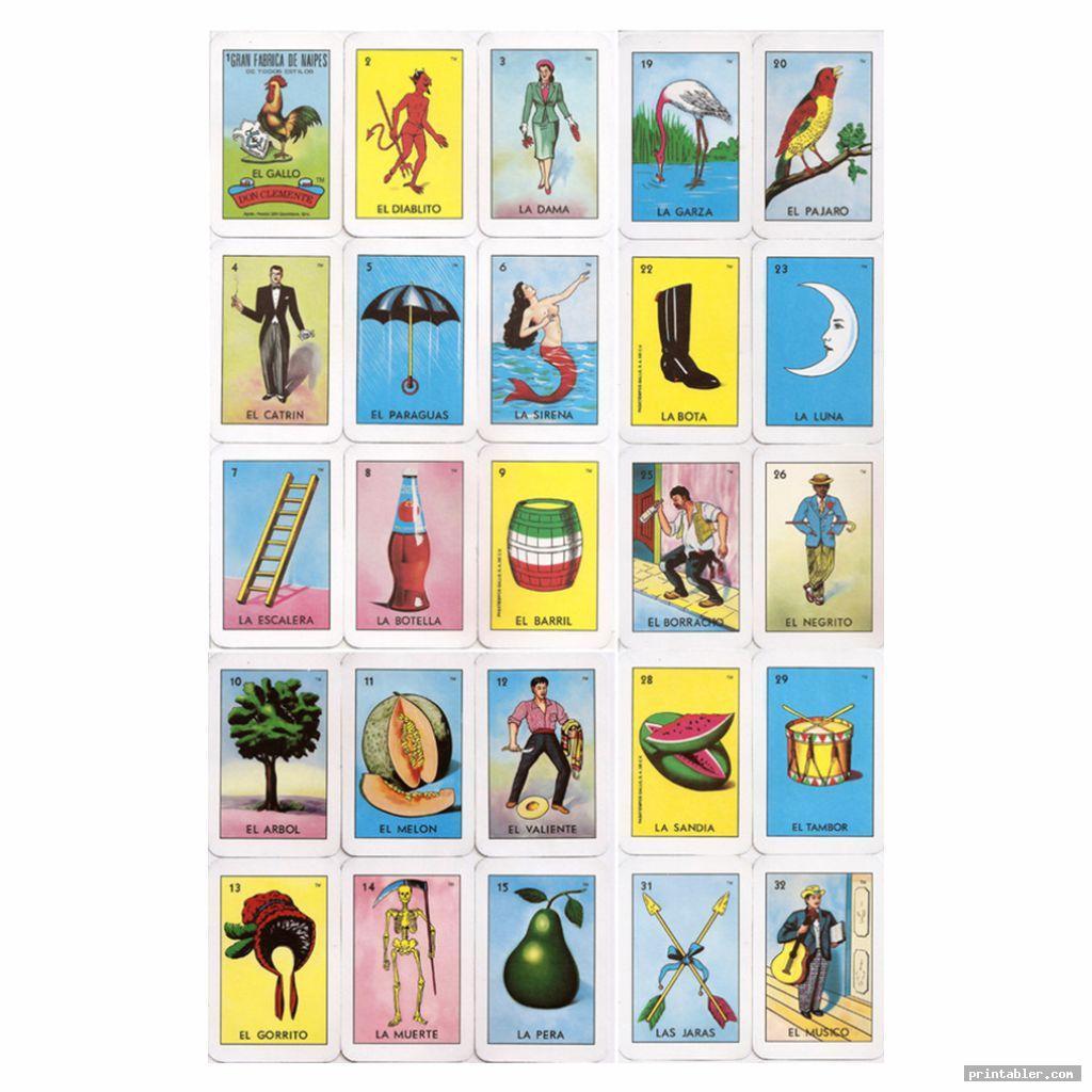 mexican bingo cards printable image free