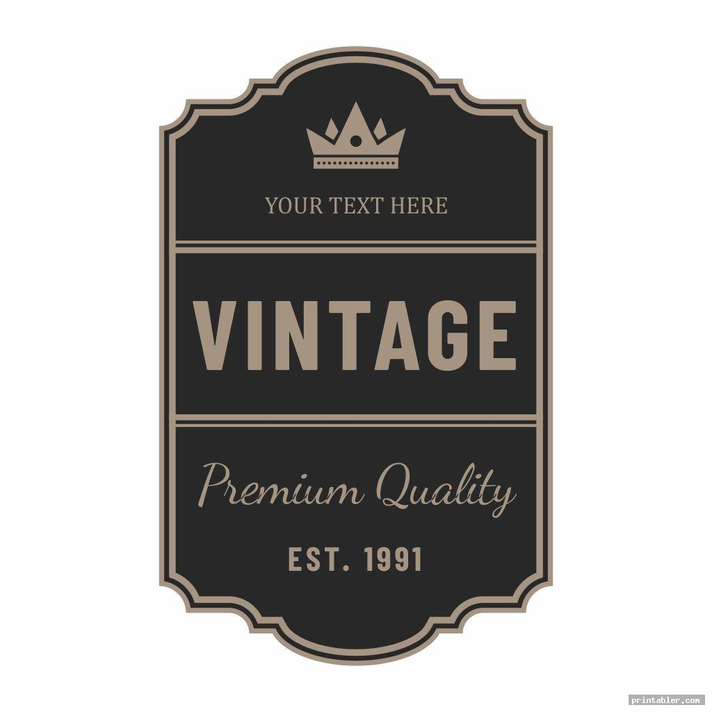 Miniature Printable Vintage Labels