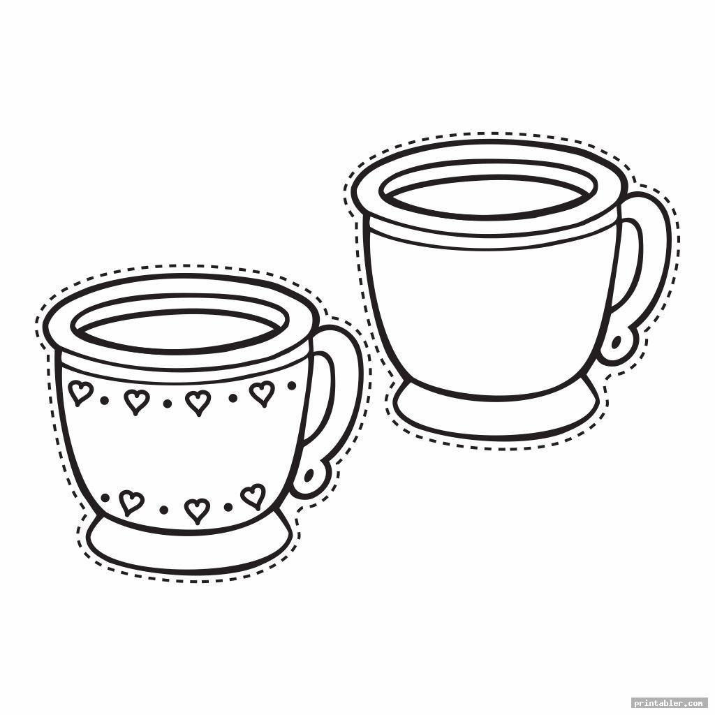 Tea Cups Printable Box Templates