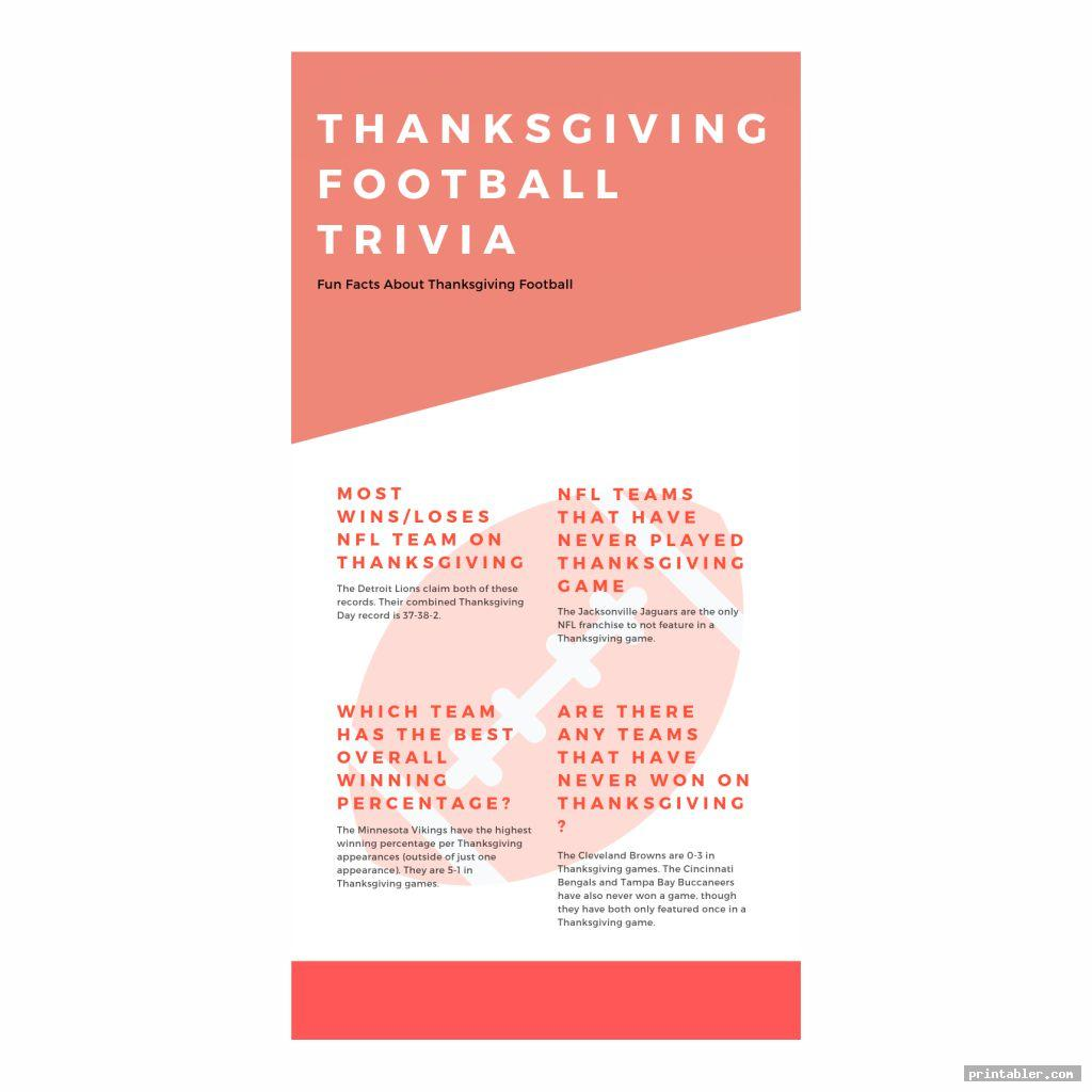 nfl thanksgiving day trivia printable games image free