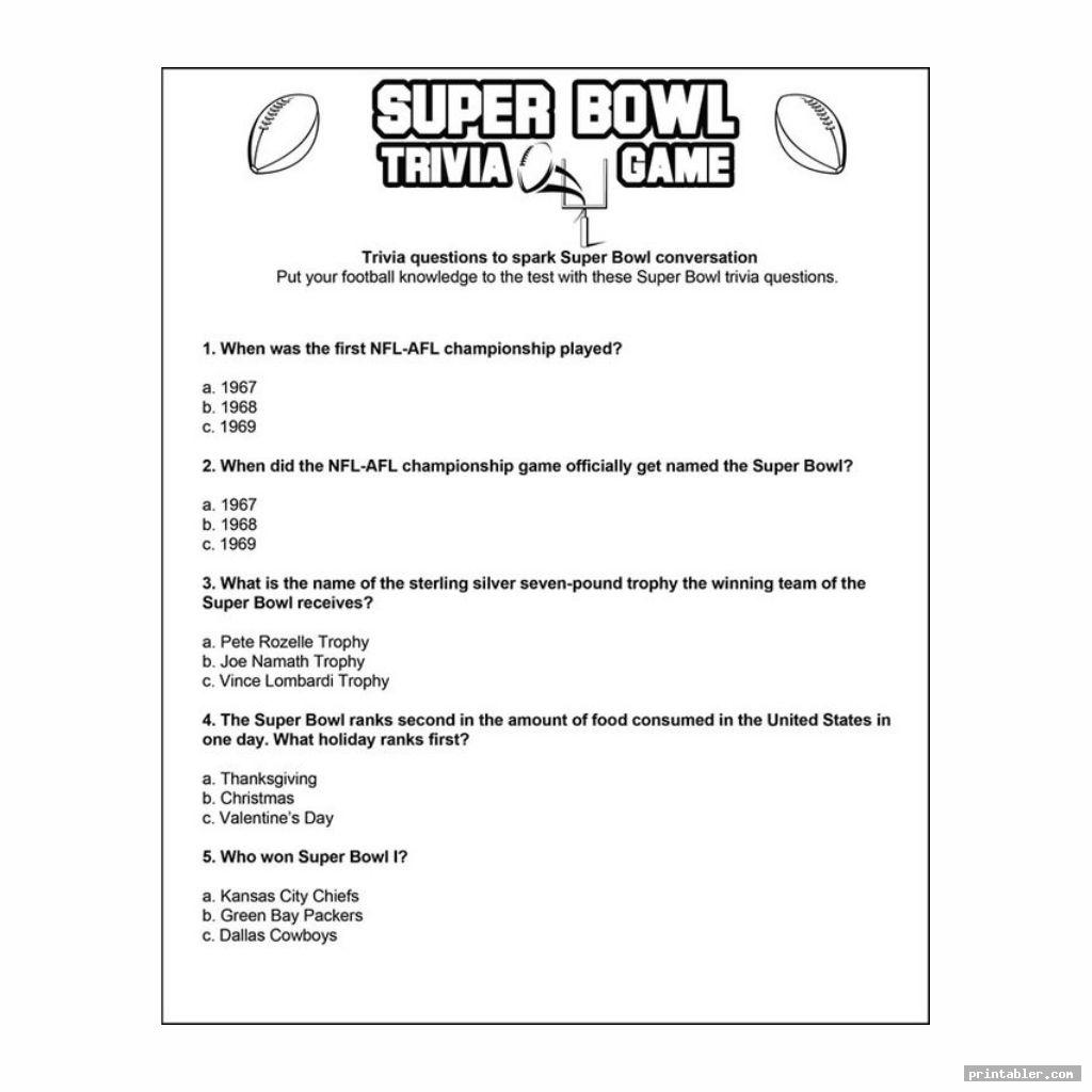 nice nfl thanksgiving day trivia printable games