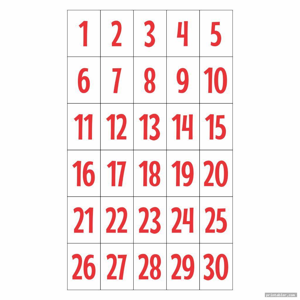 number flashcards 1 30 printable image free